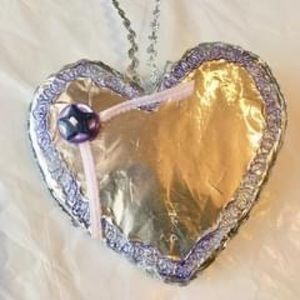 HANING HANDCRAFTED FOIL HEART ORNAMENT